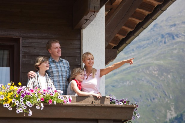 Summer Holidays Sölden balcony family view mountains