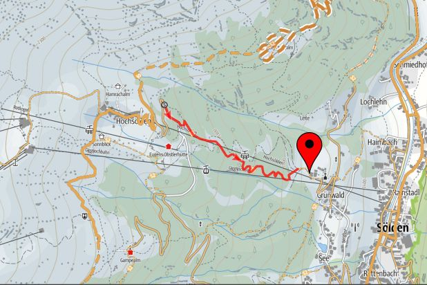 Mountainbiking Sölden plan map direct next to the bike trails apartments & chalets alps