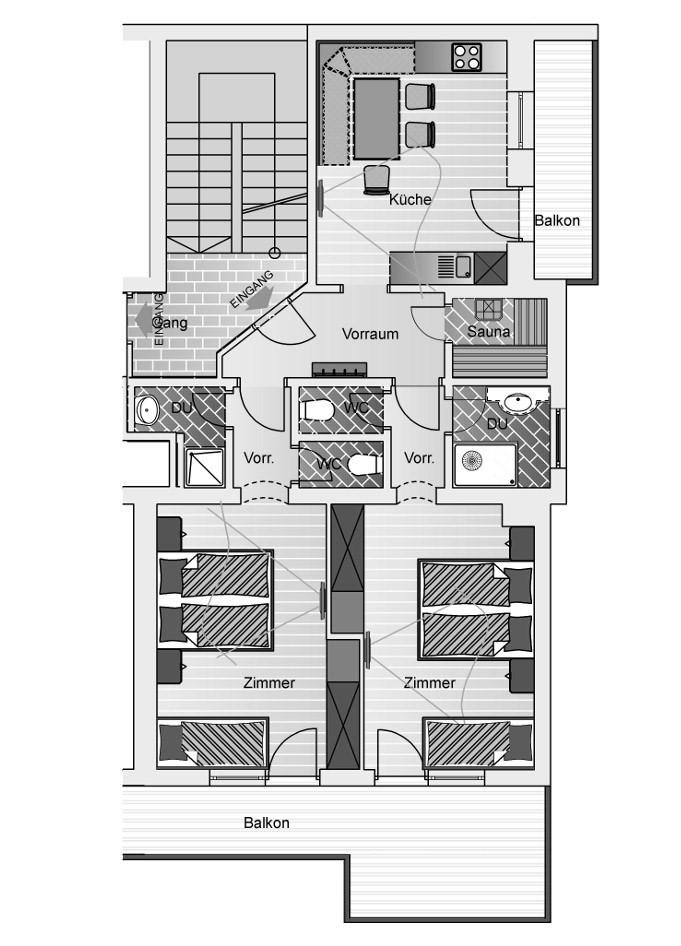 2 Schlafzimmer Appartement 2 6 Personen L Grunwald Resort Solden
