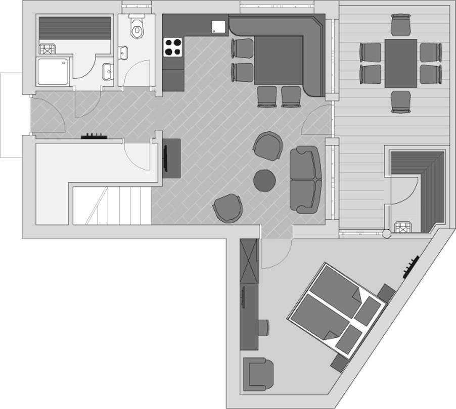 Küchenrolle Im Biomüll ~ 1 schlafzimmer superior chalet 2 3 personen l grünwald resort sö