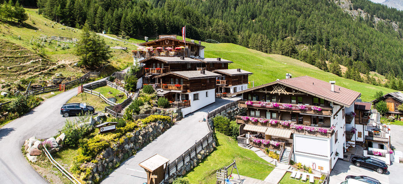 Grünwald Resort Sölden in summer